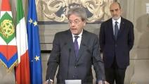Il Presidente del Consiglio incaricato, Gentiloni, annuncia i Ministri del nuovo Governo