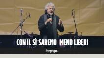 """Grillo: """"Se vince il sì saremo meno liberi"""""""