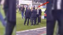 Juve-Milan, al fischio finale Allegri è una furia: urla davanti a Marotta e Paratici