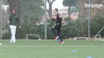 """Milik scende in campo a Villa Stuart, i tifosi lo incitano: """"Ma quale Higuain!"""""""