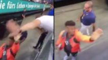 Un tifoso si prende gioco di Coman con la dab dance: il calciatore ci rimane male