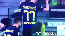 Brozovic, scatto di nervi: dà un calcio agli scalini dello JStadium