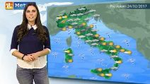 Previsioni meteo per venerdì 24 febbraio 2017