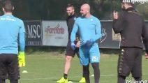 Napoli, ultimo allenamento a Castel Volturno: cresce l'attesa per il match con il Real