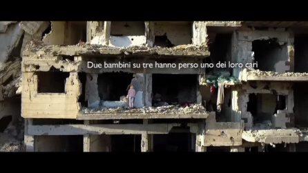 Aleppo, le immagini dal drone dopo 6 anni di guerra sono spaventose: milioni di bambini in pericolo