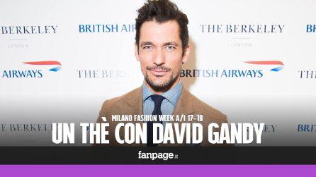 Un thè con David Gandy, succede alla Milano Fashion Week