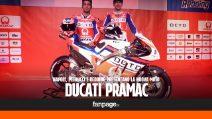Napoli, presentata la nuova Ducati Pramac in gara al MotoGP 2017