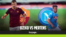Dzeko vs Mertens, Roma vs Napoli è anche una sfida tra bomber