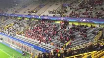 """Champions League, i tifosi del Monaco salutano i giocatori del Borussia al grido di """"Dortmund Dortmund"""""""