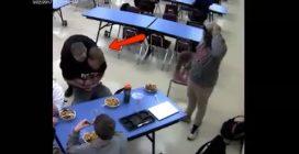 Jovem engasgado é salvado por colega de escola