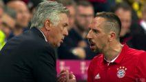 Ribery si arrabbia per la sostituzione: la reazione di Ancelotti è tutta da vedere