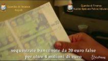 Dieci milioni di euro falsi pronti ad invadere Napoli e Caserta: sgominata banda
