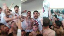 Il Foggia va in Seire B: negli spogliatoi esplode la goiia dei calciatori