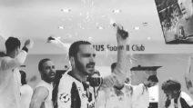 """Champions, festa Juve nello spogliatoio: """"Ce ne andiamo a Cardiff"""""""