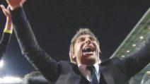 Chelsea campione, la telecamera segue Antonio Conte: la sua esultanza è irrefrenabile