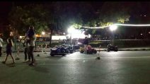 Napoli, sul lungomare (di fronte al mercato del falso) spunta una pista per moto elettriche