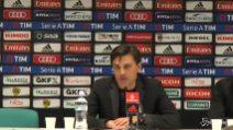 """Milan, Montella: """"Abbiamo raggiunto 2 obiettivi su 3"""""""