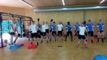 Atalanta, tutta la squadra schierata per ballare la Papu Dance