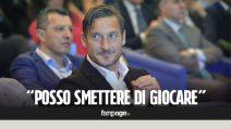 """Totti: """"Per Maradona sono il migliore? Posso smettere di giocare"""""""