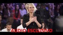 """Il fuori onda della """"finta"""" Maria De Filippi: """"La merce la lavoro io"""""""