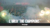 Juve-Real, l'urlo dei tifosi bianconeri all'inno della Champions
