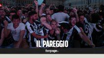 Juve-Real, la piazza esplode al pareggio di Mandzukic