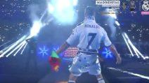 Festa Real dopo la vittoria della Champions: tifosi impazziscono al gesto di Cristiano Ronaldo