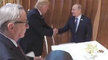 La stretta di mano tra Putin e Trump al G20