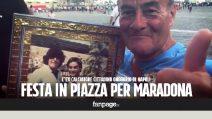 Maradona cittadino onorario di Napoli, i tifosi in festa a Piazza Plebiscito