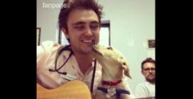 """Calma i suoi """"pazienti"""" con la musica: il veterinario cantante che ha conquistato il web"""