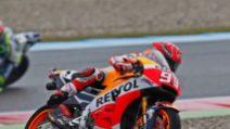 MotoGp a Brno: Marquez in pole, Rossi in prima fila