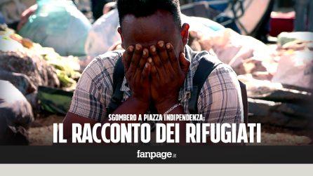 """La disperazione dei rifugiati dopo lo sgombero a piazza Indipendenza: """"Ci hanno tirato per i capelli"""""""