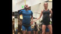 Dani Alves si allena con sua moglie Joana Sanz!