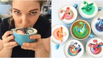 The most colorful latte you'll ever drink!