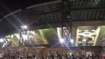 Napoli-Stella Rossa, l'urlo del San Paolo sull'inno della Champion mette i brividi: