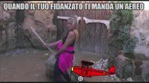 Grande Fratello VIP - Giuly Doll in 'Quando il tuo fidanzato ti manda un aereo'