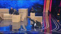 Tu si que vales, Rudy Zerbi cade sul palco