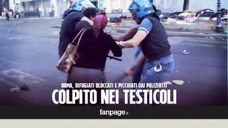Roma, il poliziotto colpisce nei testicoli il rifugiato mentre un collega lo tiene fermo