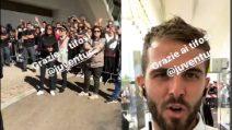 """La Juve acclamata dai tifosi alla stazione e Pjanic dice: """"Grazie Sassuolo"""""""