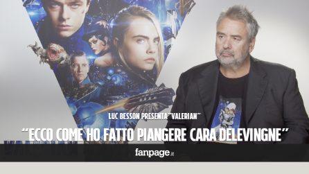 """'Valerian', il regista Luc Besson: """"Ecco come ho fatto piangere Cara Delevingne"""""""