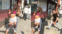 La ragazza posa in strada per degli scatti hot: lo scherzo del fidanzato è tremendo