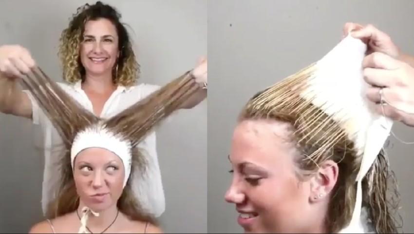 Meches con cuffia capelli lunghi