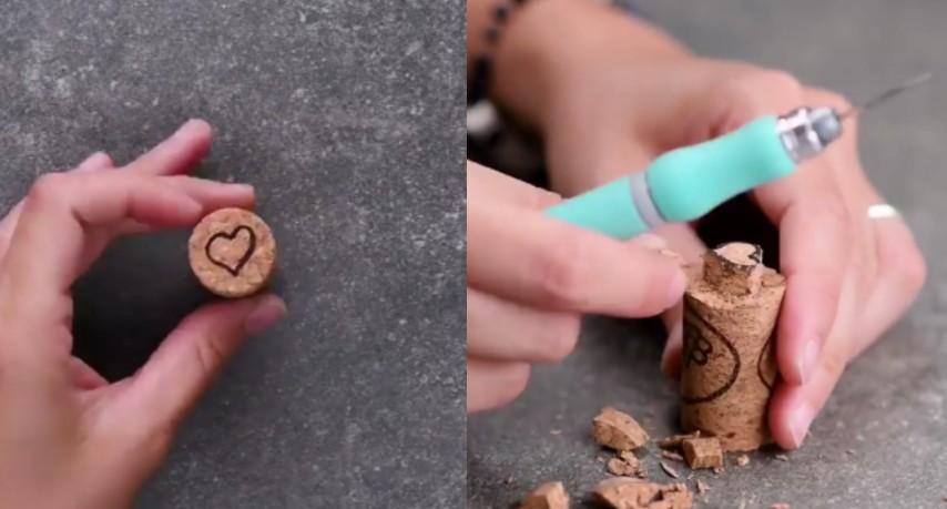 bellissimo stile vendita calda autentica 100% qualità Intaglia il tappo di sughero creando un cuore: quello che realizza è  stupendo