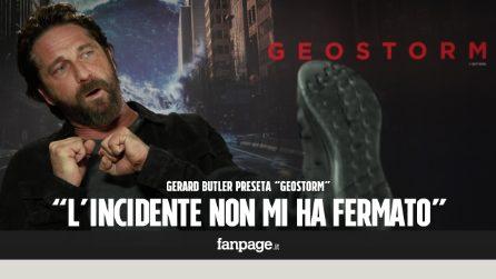 """Gerard Butler presenta """"Geostorm"""": """"L'incidente in moto non mi ha fermato"""""""