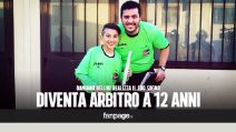"""Arbitro a soli 12 anni, Damiano Bellini realizza il suo sogno: """"Voglio far rispettare le regole"""""""