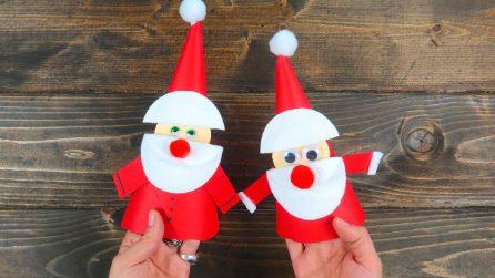 Come fare un Babbo Natale con la carta e le salviette struccanti