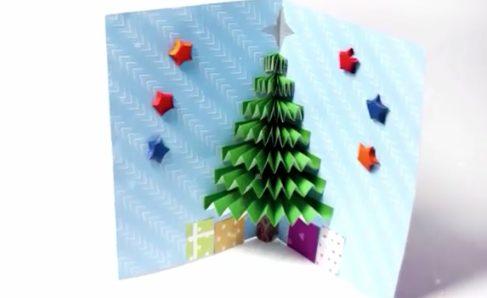 Biglietti Di Natale Video.Come Realizzare Un Biglietto Di Auguri 3d A Tema Natalizio Un Idea Fai Da Te Facile E Originale