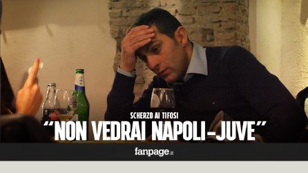 """""""Non puoi guardare Napoli-Juve"""" - CANDID CAMERA ai tifosi napoletani"""