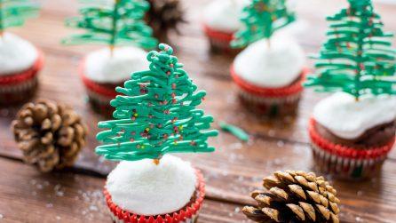 Muffin a forma di albero di natale