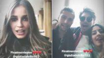 """GF Vip, reunion in """"coppia"""": Ivana e Luca in compagnia di Giulia e Andrea"""
